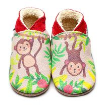 Inch Blue babyslofje geprint Monkey