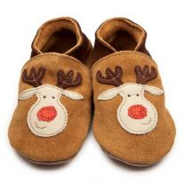 Inch Blue baby slofje rudolph tan