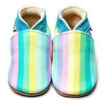 Inch Blue babyslofje geprint Stripes Pastel Rainbow